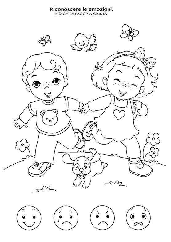 disegno da colorare emozione felicità